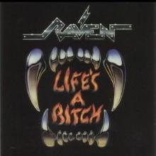 RAVEN - LIFE'S A BITCH (JAPAN EDITION +OBI, WHITE LABEL PROMO) LP