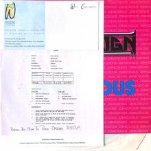 ACID REIGN - OBNOXIOUS (TEST PRESS INCL. ORIGINAL ACCOMPANYING LETTER) LP