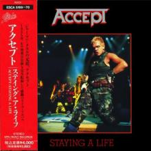 ACCEPT - STAYING A LIFE (FIRST JAPAN EDITION SPECIAL DOUBLE CASE +OBI) 2CD