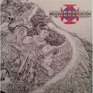 POWERSURGE - TARGETED FOR TERMINATION (LTD HAND-NUMBERED EDITION 100 COPIES BLACK VINYL, GATEFOLD) LP