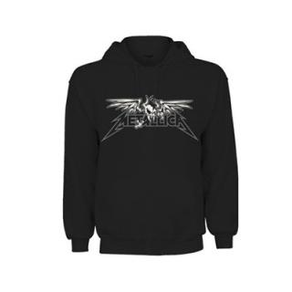METALLICA - WINGED SCARY - HOODED SWEATER (SIZE: M) (NEW)